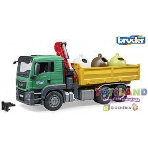 4001702037536 bruder man tgs camion 3753 raccolta vetro