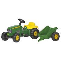 Rolly Toys Trattore a pedali Kid John Deere con rimorchio (012190)