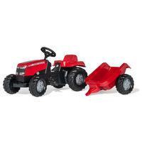 Rolly Toys Trattore a pedali Kid Massey Ferguson con rimorchio (012305)
