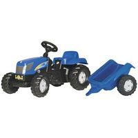 Rolly Toys Trattore a pedali Kid New Holland T7040 con rimorchio (013074)