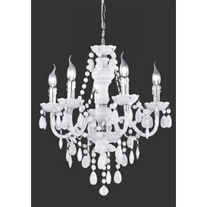 Trio Lighting Luster lampadario 5-luci bianco e r1107 1