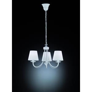 Trio Lighting Cortez 110600331 lampadario 3 bracci metallo bianco