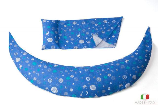 Nuvita DreamWizard cuscino per la gravidanza e l'allattamento blu