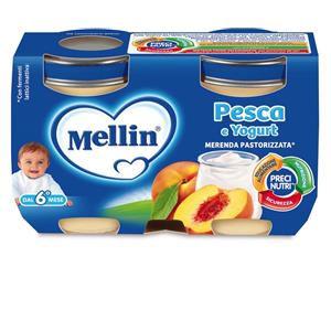Mellin Omogeneizzato pesca e yogurt 2x120g