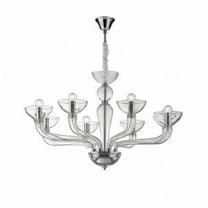 Ideal Lux Casanova SP8 044255 lampadario 8 bracci trasparente