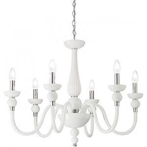 Ideal Lux Doge SP6 113678 lampadario 6 bracci bianco