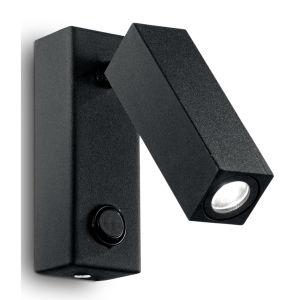 Ideal Lux Page AP1 Square 142241 applique LED orientabile nero