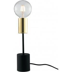 Fan Europe Axon lampada da tavolo nero e oro