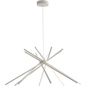 Fan Europe Lampadario led 50 moderno alluminio bianco led-shanghai-s8-bco