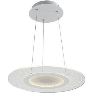 Fan Europe Eternity lampada LED a sospensione acrilico bianco