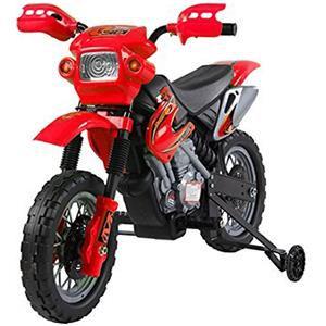 Homcom Moto Elettrica da cross con rotelle Rosso