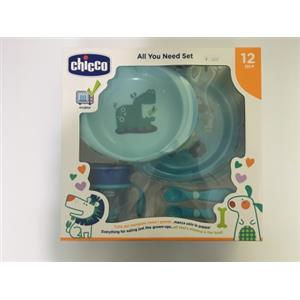 Chicco Set Pappa All You Need 12m+ azzurro