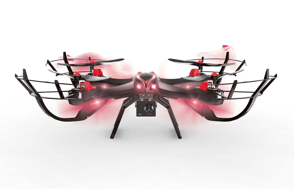 Tekk Vampire 3rotors 2mp 350mah nero rosso drone fotocamera