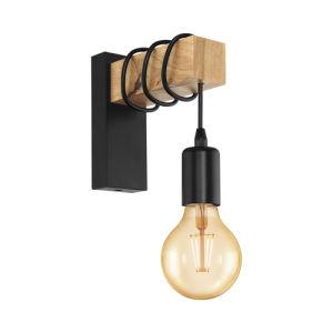 Eglo Townshend 32917 applique metallo e legno