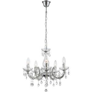 Globo Cuimbra II 63116-5 lampadario cristallo acrilico 5 bracci