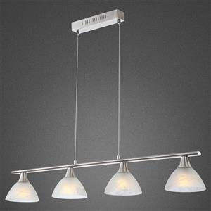 9007371286508 globo ruben 68618 4 lampadario led a sospensione 4 luci