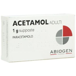 Abiogen Pharma Acetamol adulti 1g 10 supposte