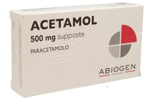 Abiogen Pharma Acetamol 500mg 10 supposte