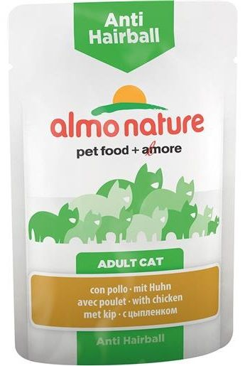 Almo Nature Anti Hairball Pollo - umido