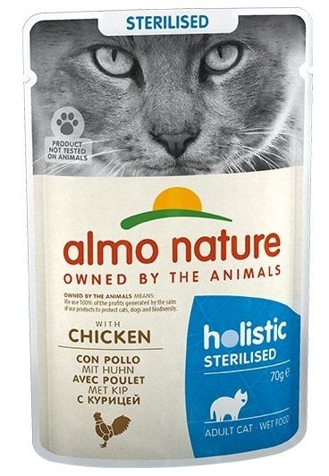 Almo Nature PFC Sterilised (Pollo) per gatti - umido 70g