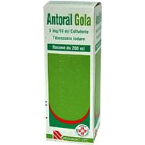 Recordati Antoral gola colluttorio 200ml 100mg