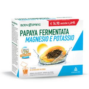 Body spring papaya fermentata magnesio e potassio 14bustine