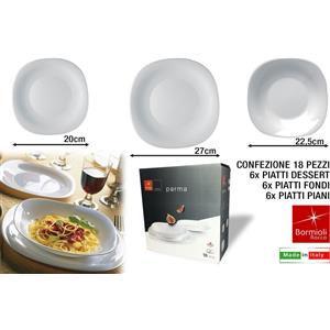 Bormioli Parma servizio tavola 18 pezzi