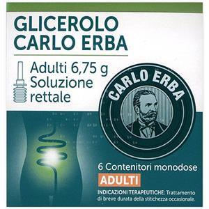 Carlo Erba Glicerolo adulti 6 contenitori monodose