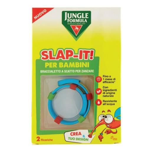 Chefaro Jungle Formula Slap-It Braccialetto Anti-Zanzare per Bambini+ 2 Ricariche