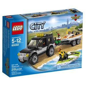 Lego City 60058 SUV con moto d'acqua