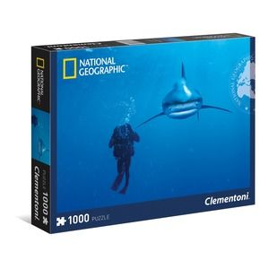 Clementoni National Geographic Squalo Bianco 1000 pz