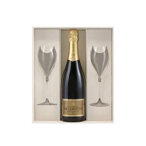 Delamotte Blanc de Blancs Deux Verres Champagne AOC