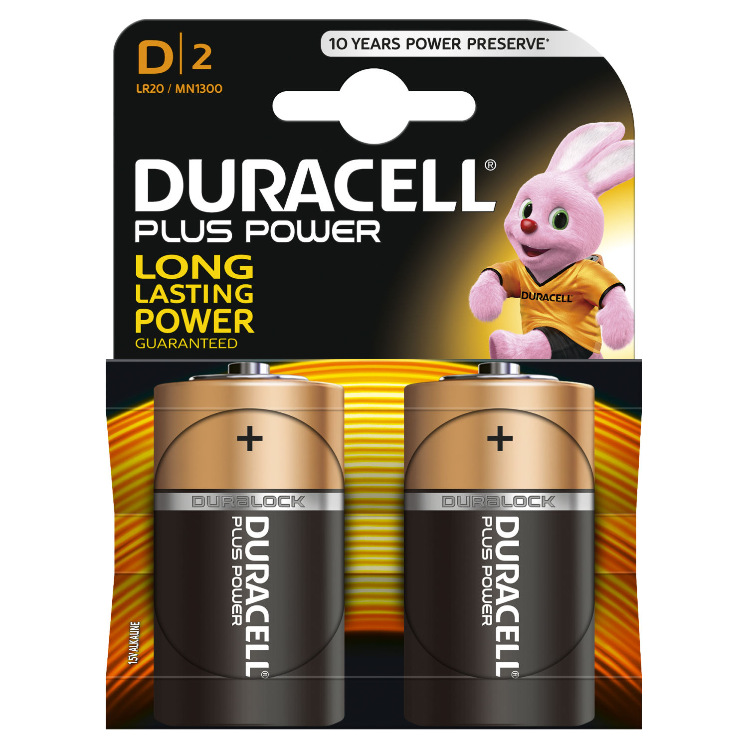Duracell Plus Power D 2 pz