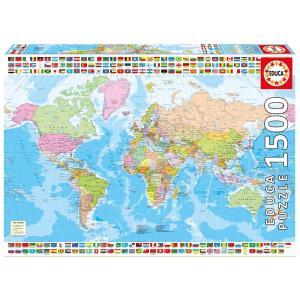 Educa mappa del mondo politico a 20 10 il prezzo pi - Mappa del mondo contorno ks2 ...
