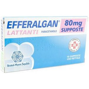 Bristol-Myers Squibb Efferalgan 10 supposte 80mg