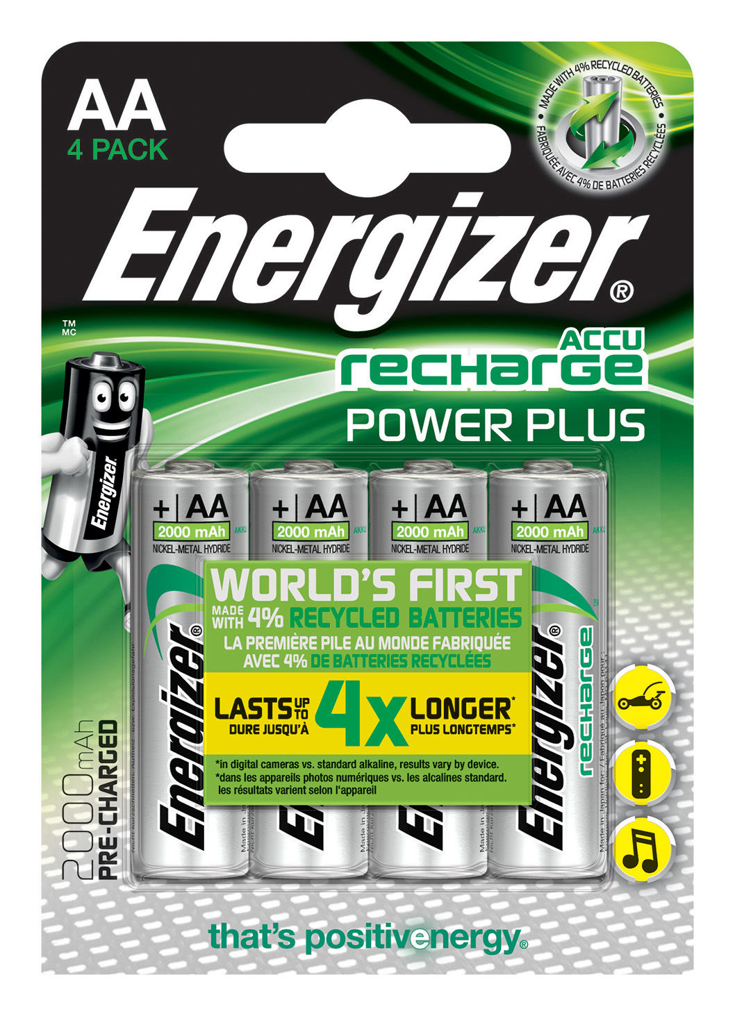 Energizer Accu Recharge Power Plus AA (4 pz)