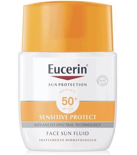 Eucerin Sensitive Protect Sun Fluido Viso SPF50+ 50ml