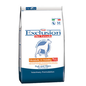 Exclusion Diet Formula Metabolic & Mobility Medium Large Breed (Maiale Fibre)