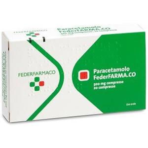 Farmakopea Paracetamolo 20 compresse 500mg