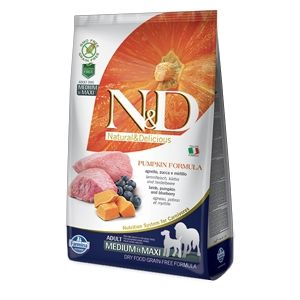Farmina N&D Pumpkin Adult Medium Maxi (Agnello Zucca Mirtilli)