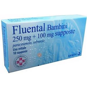 Sanofi Fluental bambini 10 supposte 250mg+100mg