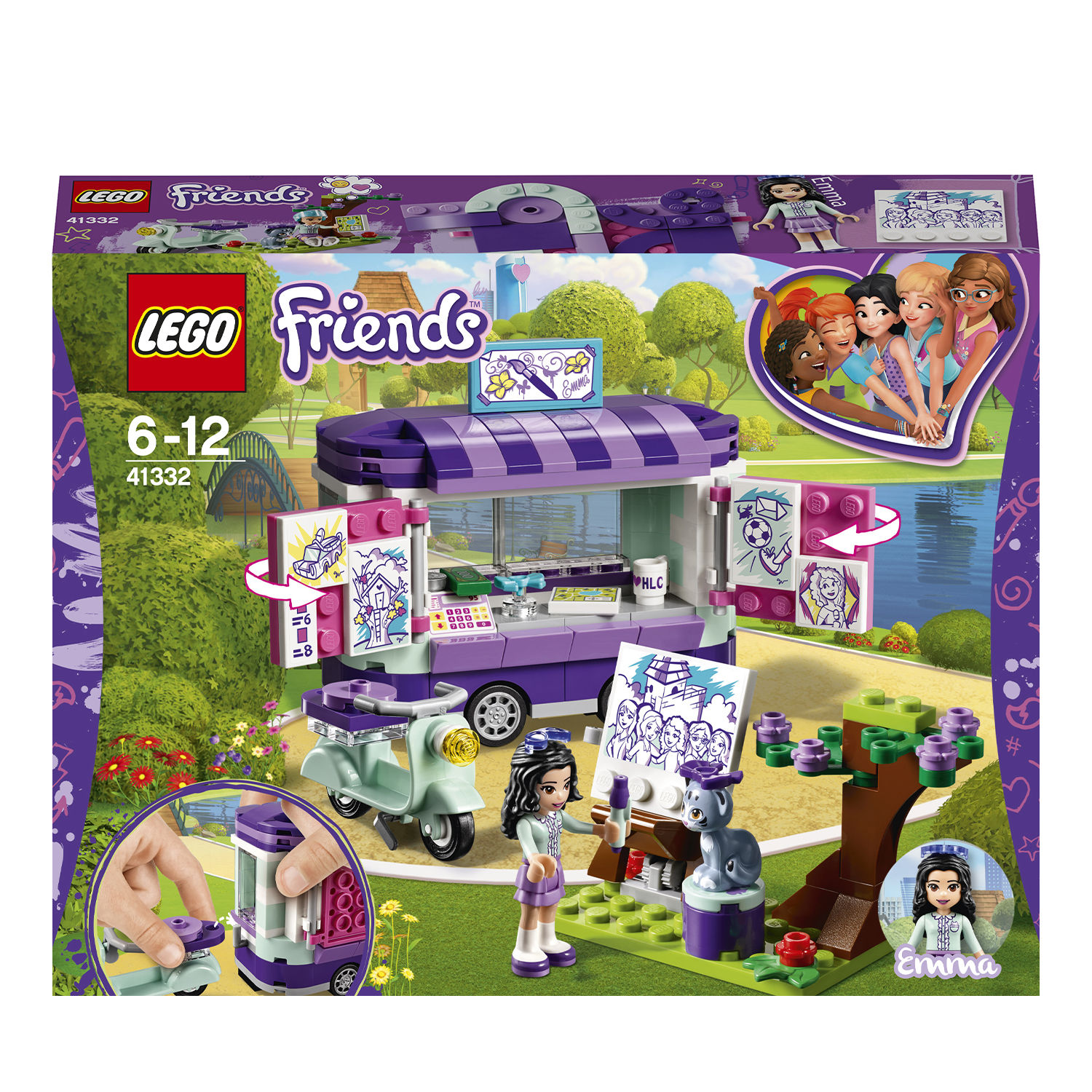 Lego Friends 41332 Lo stand dell'arte di Emma