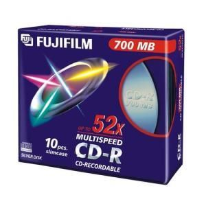 Fujifilm CD-R 80 Min. 52x (10 pcs) Slim