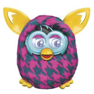 Furby Boom Purple Houndstooth