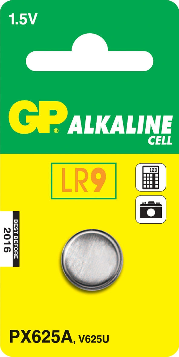 GP Batteries Alkaline Cell 625A LR9 (1 pz)