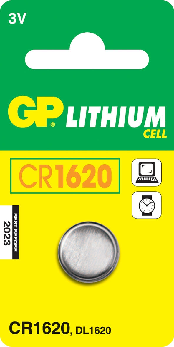 GP Batteries Lithium Cell CR1620 (1 pz)
