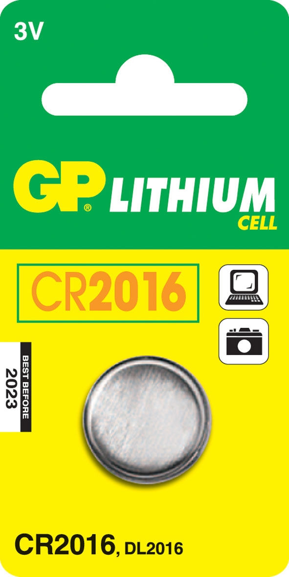 GP Batteries Lithium Cell CR2016 1 pz