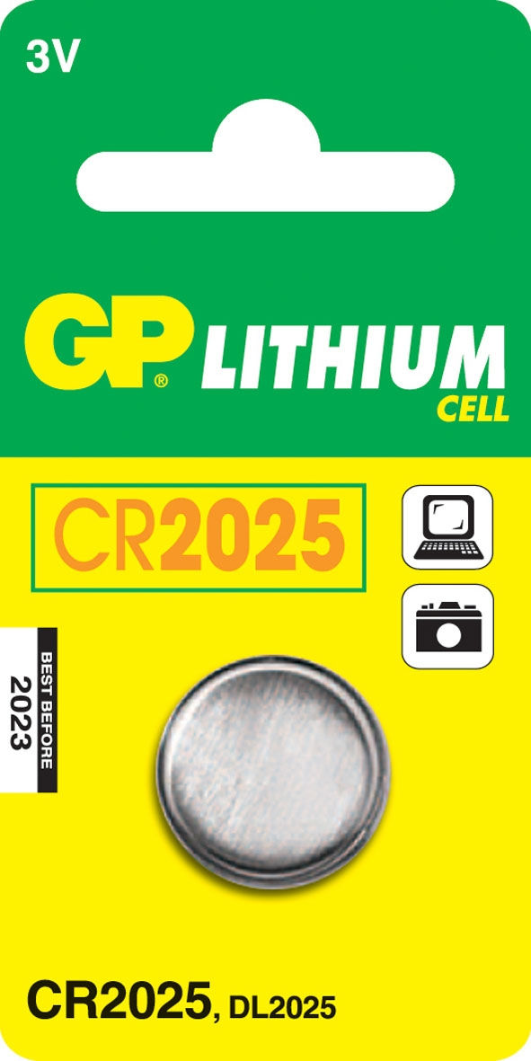 GP Batteries Lithium Cell CR2025 (1 pz)