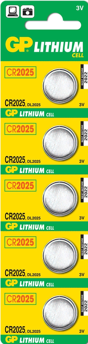 GP Batteries Lithium Cell CR2025 (5 pz)