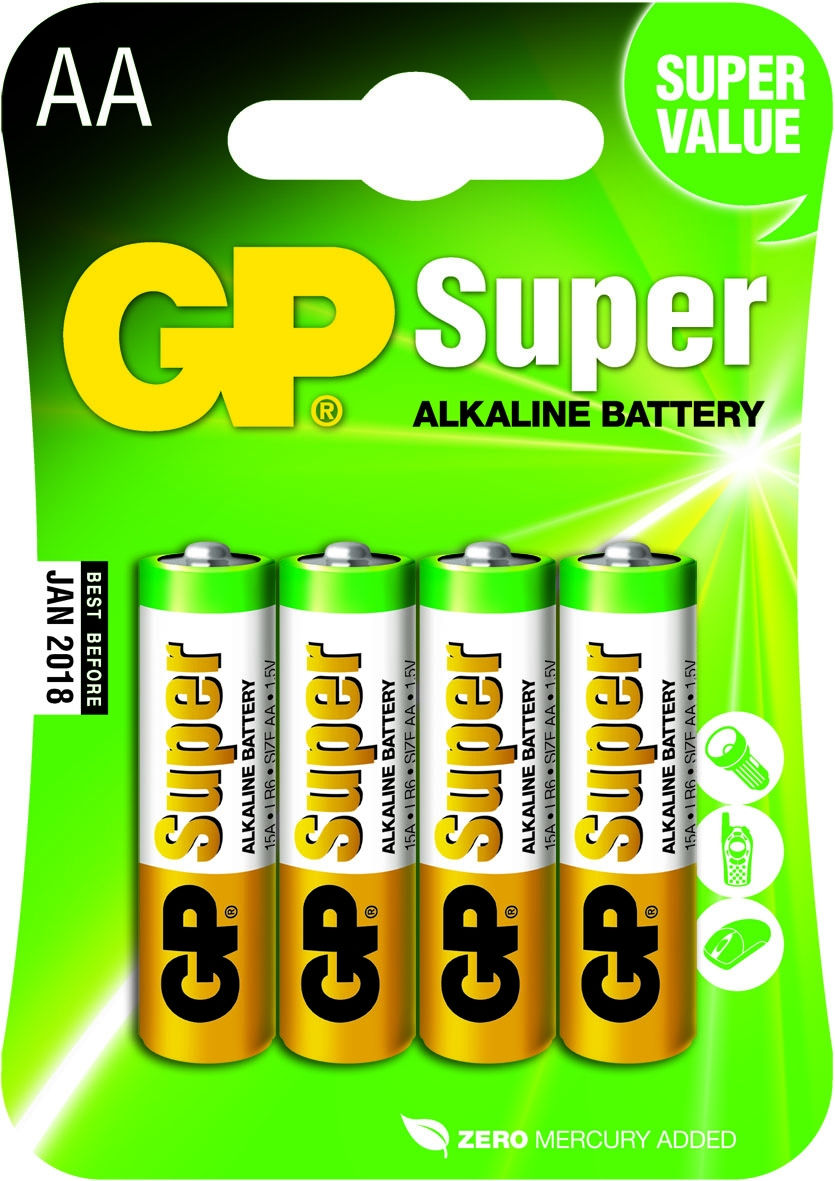 GP Batteries Super AA (4 pz)